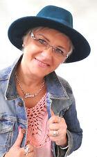 Sombrero Mujer Hermoso Clásico Gorro de lana selección color Fedora Para Dama