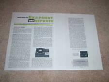 New listing Marantz Slt-12 Turntable Review, 1966, 2 pgs, Specs