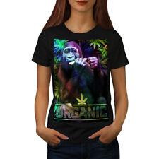 Organic Cannabis Rasta Women T-shirt S-2XL NEW | Wellcoda
