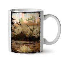 Animal Africa Horn Nature NEW White Tea Coffee Mug 11 oz | Wellcoda