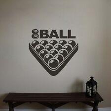 Removable Billiard Wall Sticker Sports Game Home Interior Shop Vinyl Art  Decor