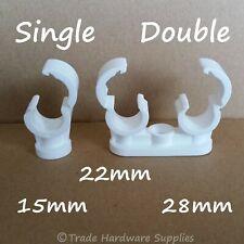 Quick Lock Pipe Clips Talon Single & Double 15mm, 22mm, 28mm