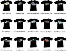 T-Shirt mit Simca Automotive - Fruit Of The Loom S M L XL 2XL 3XL