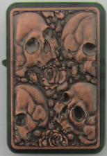 Skulls Design Star Petrol Lighter In Gift Tin