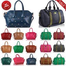 Womens New Designer Handbags Faux Leather Fashion Shoulder Celebrity Tote Bag