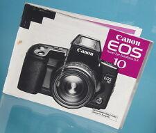 Canon EOS 10 power Eye autofocus SLR istruzioni manual mode d'emploi - (12149)
