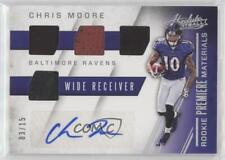 2016 Panini Absolute #23 Chris Moore Baltimore Ravens Auto Rookie Football Card