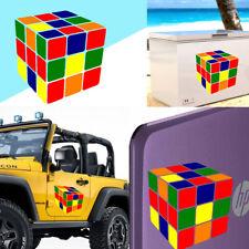 Rubik's cube sticker vinyl cut. Pegatina vinilo Cubo de Rubik