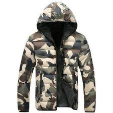 Herren Camouflage Daunenjacke Winterjacke Wintermantel Jacken Daunen Jacke M-4XL