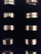 bijoux fantaisie bague en acier inox couleur bicolore épais 10mm DIVERS Designs