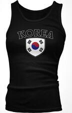 South Korea Flag Crest Korean Hangul National Country Pride Boy Beater Tank Top