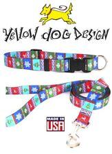 Yellow Dog Design CHRISTMAS Collar or Leash - Alpine Gift - XS S M L - USA Made