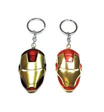 TB Marvel Iron Man Pewter Head Man Kid Fashion Car Keyring Keychain