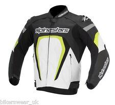 Alpinestars MOTEGI Jacket - White/BLACK/FLUO Sports Leather Jacket £ 325 OFF