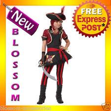 CK75 Sassy Pirate Captain Tween Girls Child Halloween Fancy Dress Up Costume
