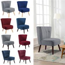 Living Linen Fabric Retro Occasional Accent Tub Chair Velvet Bedroom Sofa Seats