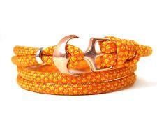 ANCORA armband-paracord-verstellbar-wickelarmband- Solar Arancione & dorato