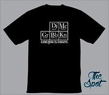 Know Your Elements Hip Hop Deejay B-Boy Emcee Graffiti Knowledge T Shirt -BLACK-