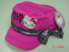 Nwt Girls Juniors Teens Hello Kitty Cadet Style Pink Black Silver Lamay Bow