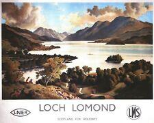 Vintage LNER LMS Loch Lomond Railway Poster A3/A2/A1 Print