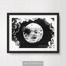 Cohete Vintage Ojo De La Luna Cartel de impresión de arte decoración de casa A4 A3 A2 espacio de cine mudo