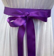 Double Face Satin Ribbon Sash, 1.5 Inch Wide - - 10 Feet Long, Bridal Sash Prom