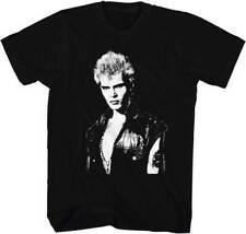 Billy Idol Black & White Photo Adult T Shirt Punk Rock Music
