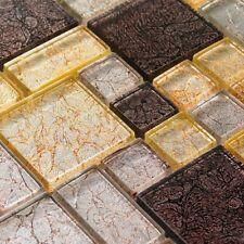 Italian Design Foil Harvest Random Mix Mosaic Wall Tile Sheet Sample
