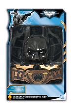 Boys Child Batman The Dark Knight Rises Costume W/ Mask Cape Belt & 2 Batarangs