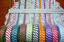 TEAM SPIRIT Grosgrain Diagonal Stripes Rbn 9mmWide 3&5 Metre 11ColourChoice LLD8