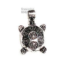 Breloques _ TORTUE 20x12mm _ Perles charms pendent création bijoux bracelet B179