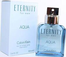 ETERNITY AQUA by Calvin Klein for Men Cologne 3.4/3.3 oz edt New in Box