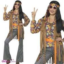 Señoras 60's 70's Cantante Hippie Disfraz Retro Woodstock Adulto Disfraces