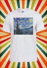 La noche estrellada Vincent van Gogh Hombres Mujeres Camiseta Chaleco Camiseta Unisex 1714