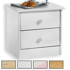 Nachtkommode Nachttisch Kiefer massiv lackiert mit 2 Schubladen in 4 Farben