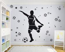 Fußballer +Name +Sterne Kinderzimmer Aufkleber Fußball Wandaufkleber WandTattoo