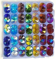 🌈jllAU- 70 chakra Crystal Octagon, suncatcher rainbow bead chandelier octagons