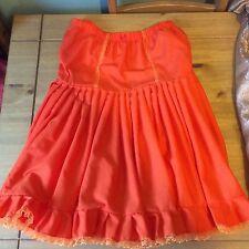 Rockabilly swing and jive orange cotton petticoat