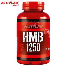 HMB 1250 120 Tablets Anticatabolic Anabolic Dietary Supplement Fat Burner Pills