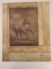 Art Print:  Zebra Odyssey By Richard Henson. 16 X 20