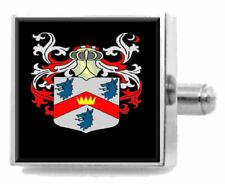 Abercrombie Escocia Familia Crest Escudo De Armas Gemelos Estuche Personalizado