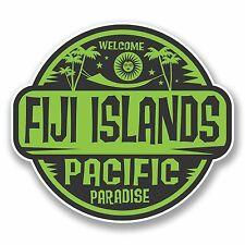 2 X 10cm Isole Figi VINILE ADESIVI Laptop BANDIERA BAGAGLIO VIAGGIO tag Decalcomania # 9824