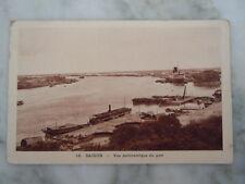 Ancienne Carte postale SAIGON Vue panoramique du port