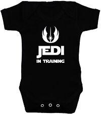 Jedi in Training Baby Grow,Bodysuit,Romper,T-Shirt 0 to 24m Star Wars Boy Girl