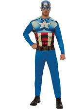 Captain America Lizenzkostüm für Herren blau-rot-weiss Cod.310736