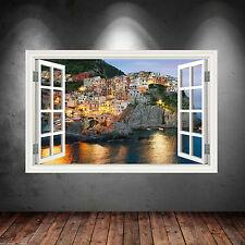 Full Colour GREECE CLIFFS SEA wall sticker decal transfer WSD25
