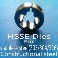 HSSE Metric Thread Round Split Dies Fine Die for steel M1.4 2 3 4 5 6 7 8 10 12