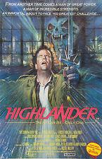 HIGHLANDER Movie POSTER Rare Sci-Fi