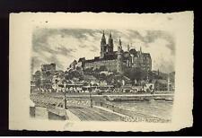 1929 Germany Graf Zeppelin Meissen postcard Cover