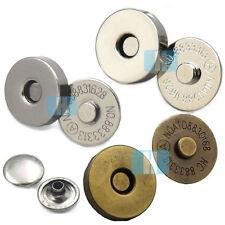 "18mm 3/4"" Magnetic Snaps Purse Double Rivet Closures Round Clasp Stud Button"